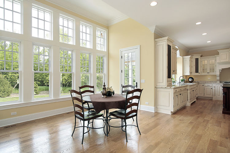 real estate staging interior kitchen and dinette