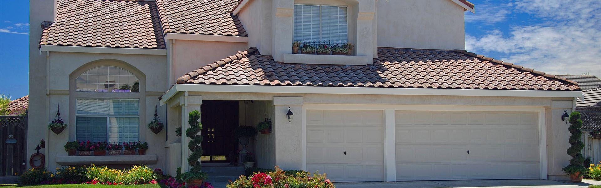 roseville california home with spanish tile roof